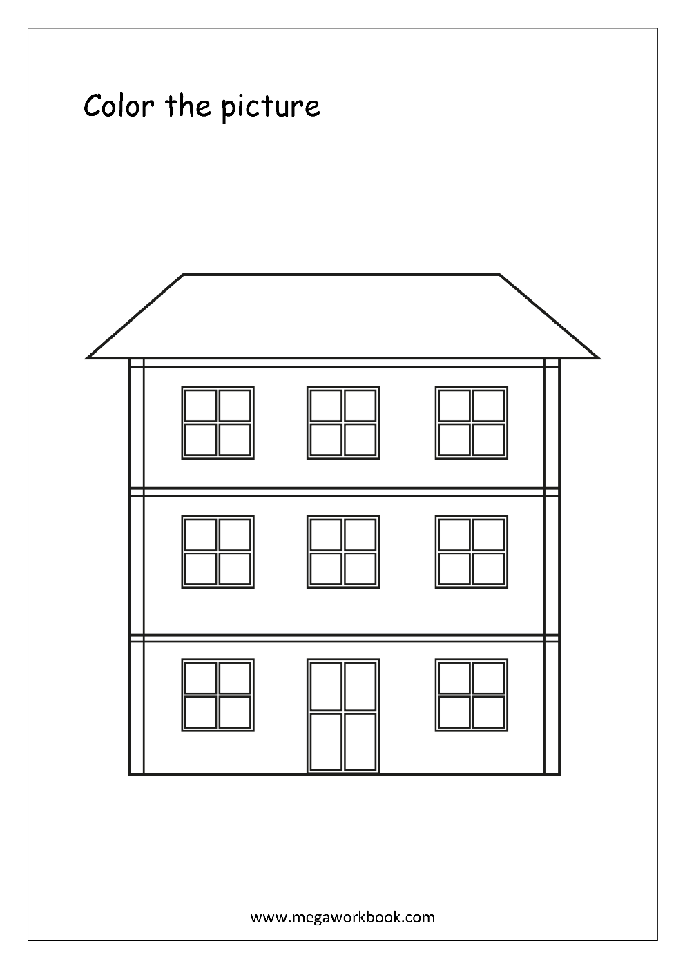 coloring picture house beautiful kids house coloring colour drawing hd wallpaper house coloring picture