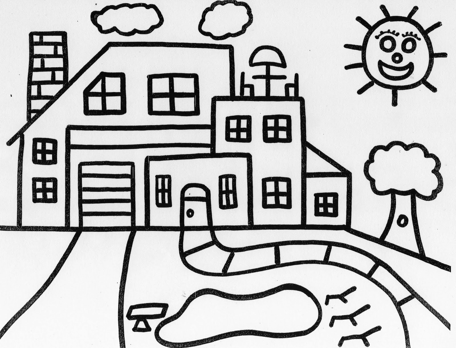 coloring picture house free printable house coloring pages for kids coloring house picture