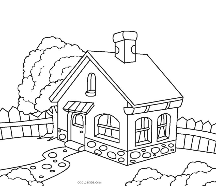 coloring picture house free printable house coloring pages for kids picture coloring house