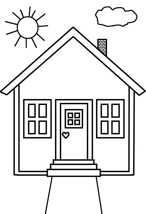 coloring picture house house coloring page 15 wecoloringpagecom picture coloring house