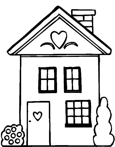 coloring picture house house coloring pages getcoloringpagescom house coloring picture 1 1
