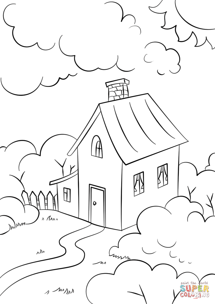 coloring picture house people and jobs coloring pages for kids houses colouring picture coloring house