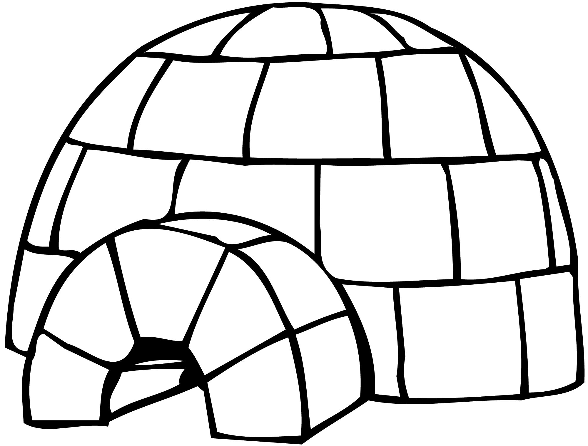 coloring picture igloo best igloo clipart 11304 clipartioncom igloo coloring picture