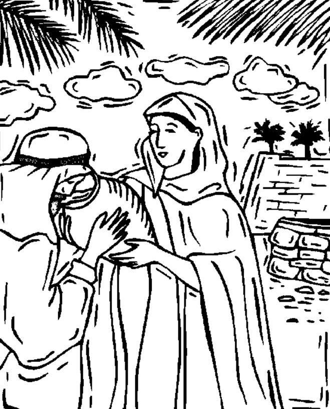 coloring picture of isaac and rebekah bible coloring pages isaac and rebekah have twins picture of isaac rebekah and coloring