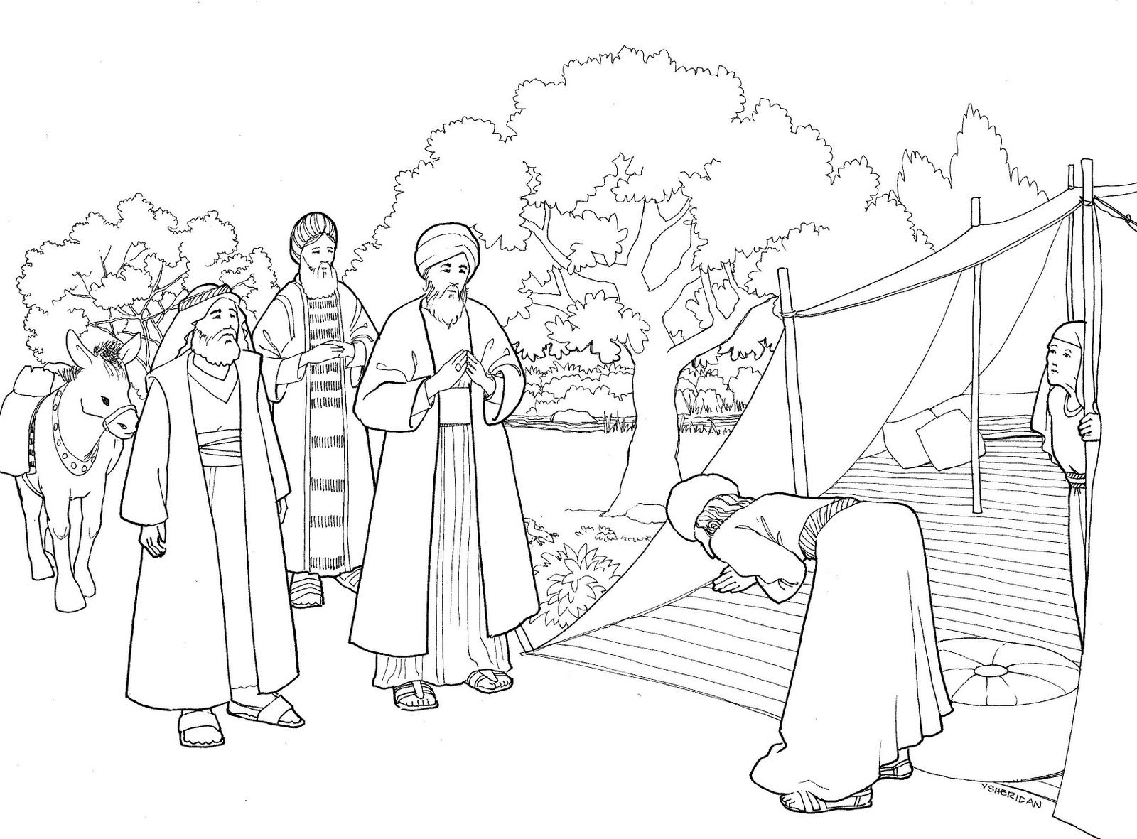 coloring picture of isaac and rebekah isaac and rebekah coloring page at getdrawings free download rebekah isaac and coloring of picture