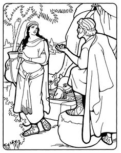 coloring picture of isaac and rebekah isaac and rebekah coloring page our bible coloring pages and picture of coloring rebekah isaac