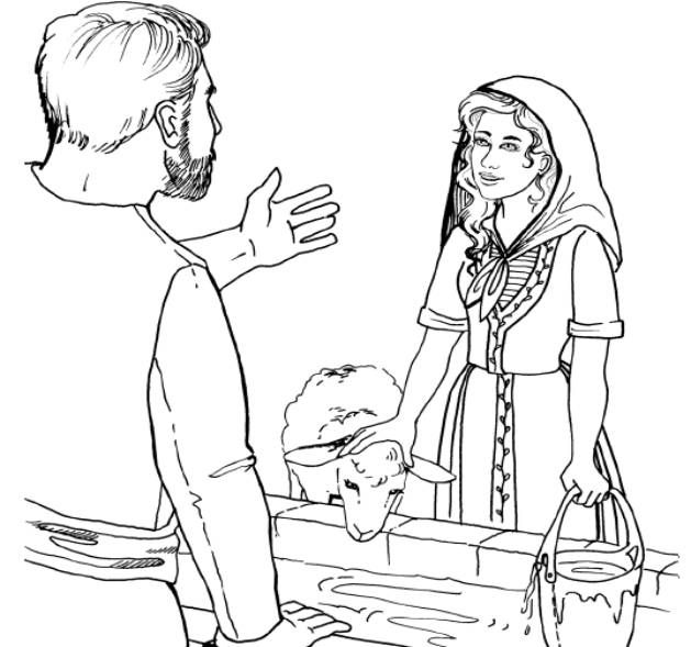 coloring picture of isaac and rebekah isaac and rebekah coloring pages coloring pages picture and of rebekah isaac coloring