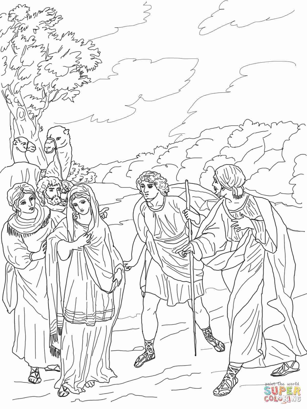 coloring picture of isaac and rebekah isaac and rebekah worksheets in 2020 bible coloring of and coloring rebekah picture isaac