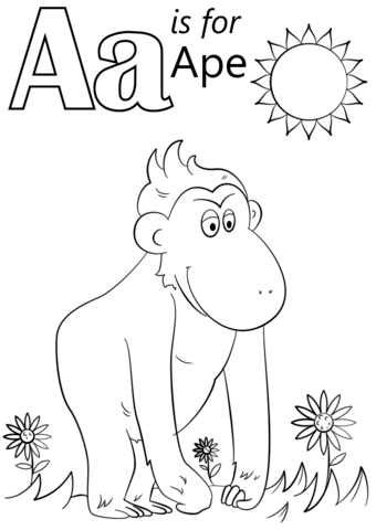 coloring picture of letter a alphabet book cover page free printable coloring a letter of picture