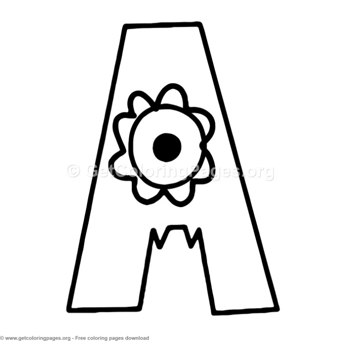 coloring picture of letter a coloring picture of letter a letter coloring picture of a