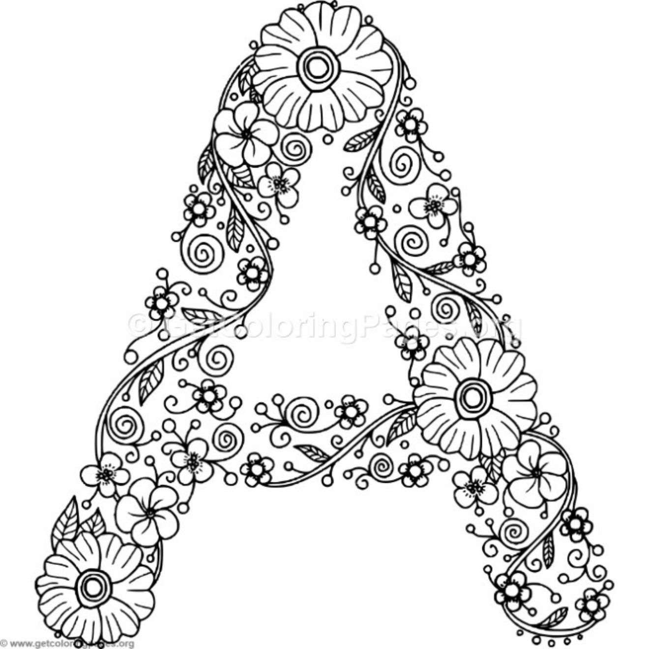 coloring picture of letter a flower inspired alphabet letter a coloring pages picture letter a coloring of
