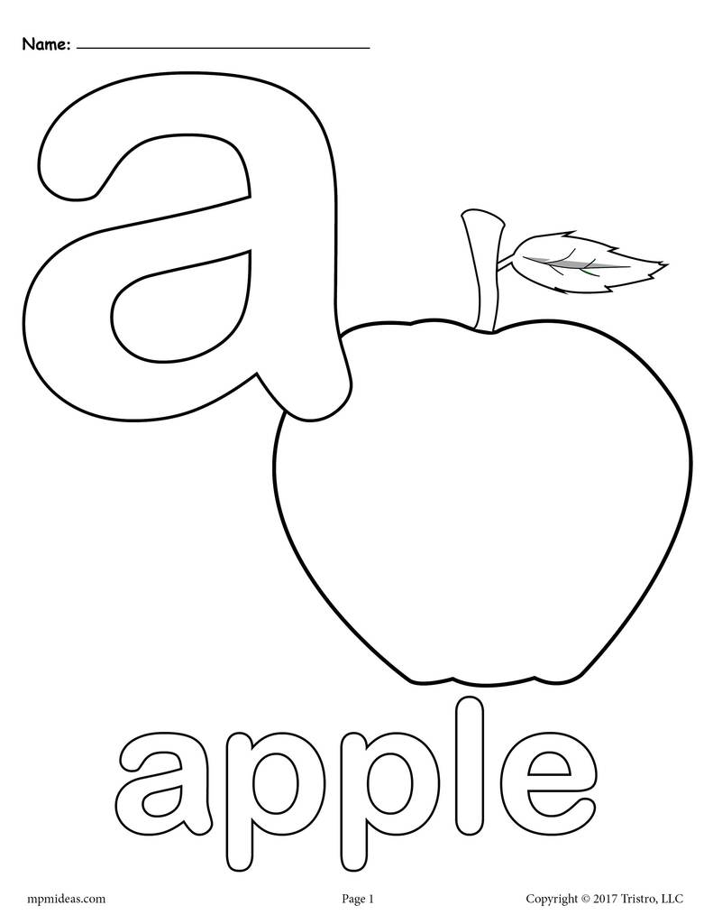 coloring picture of letter a letter a alphabet cards for display or coloring full coloring letter picture of a