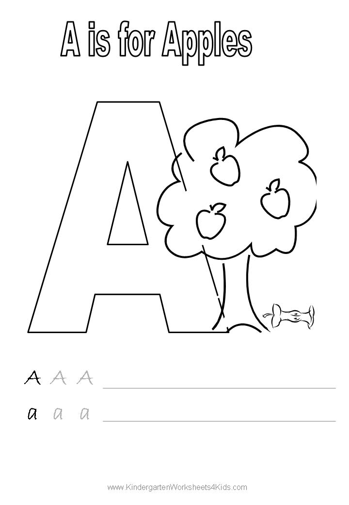 coloring picture of letter a letter a coloring worksheet free kindergarten english letter coloring picture of a