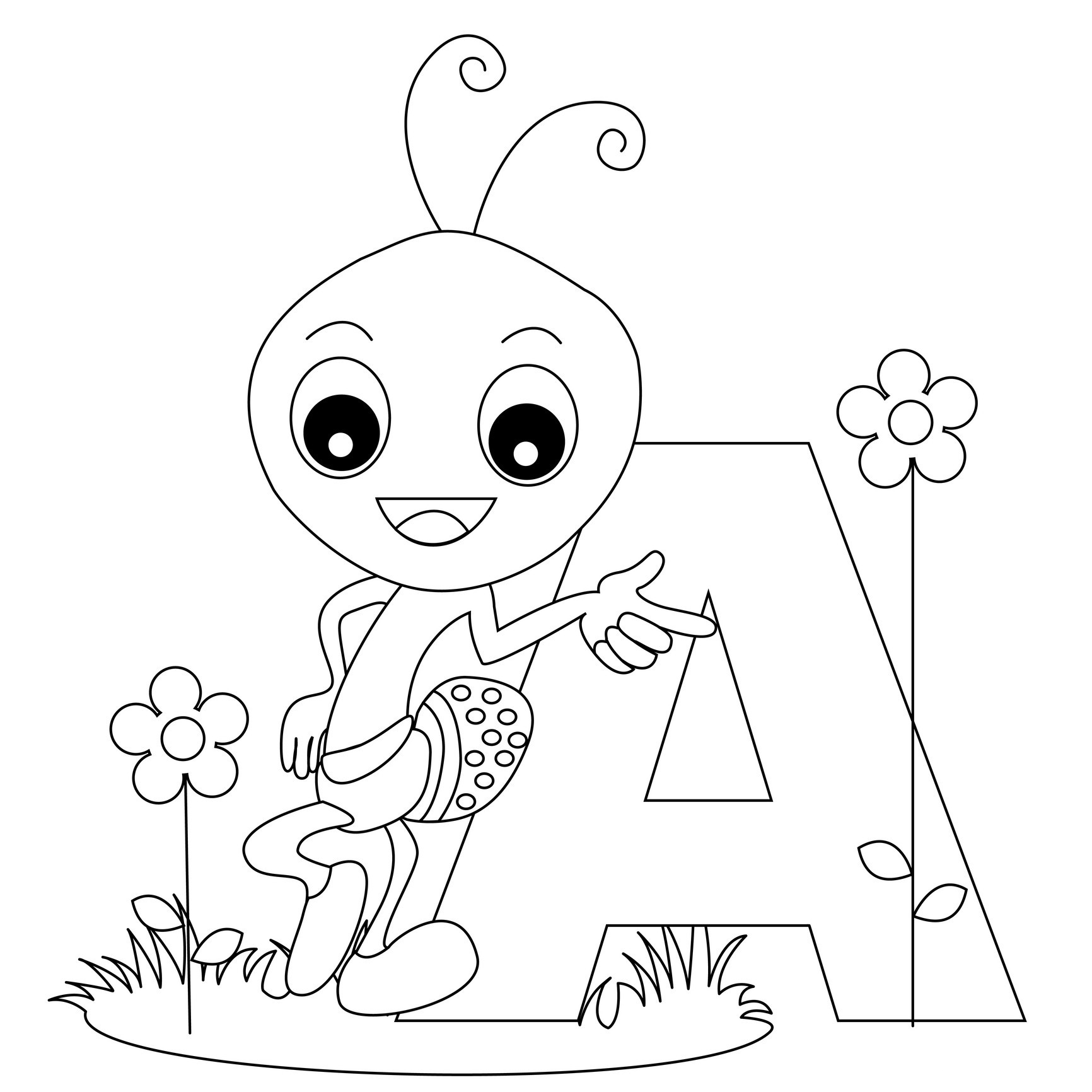 coloring picture of letter a standard letter printables free alphabet coloring page of a picture letter coloring