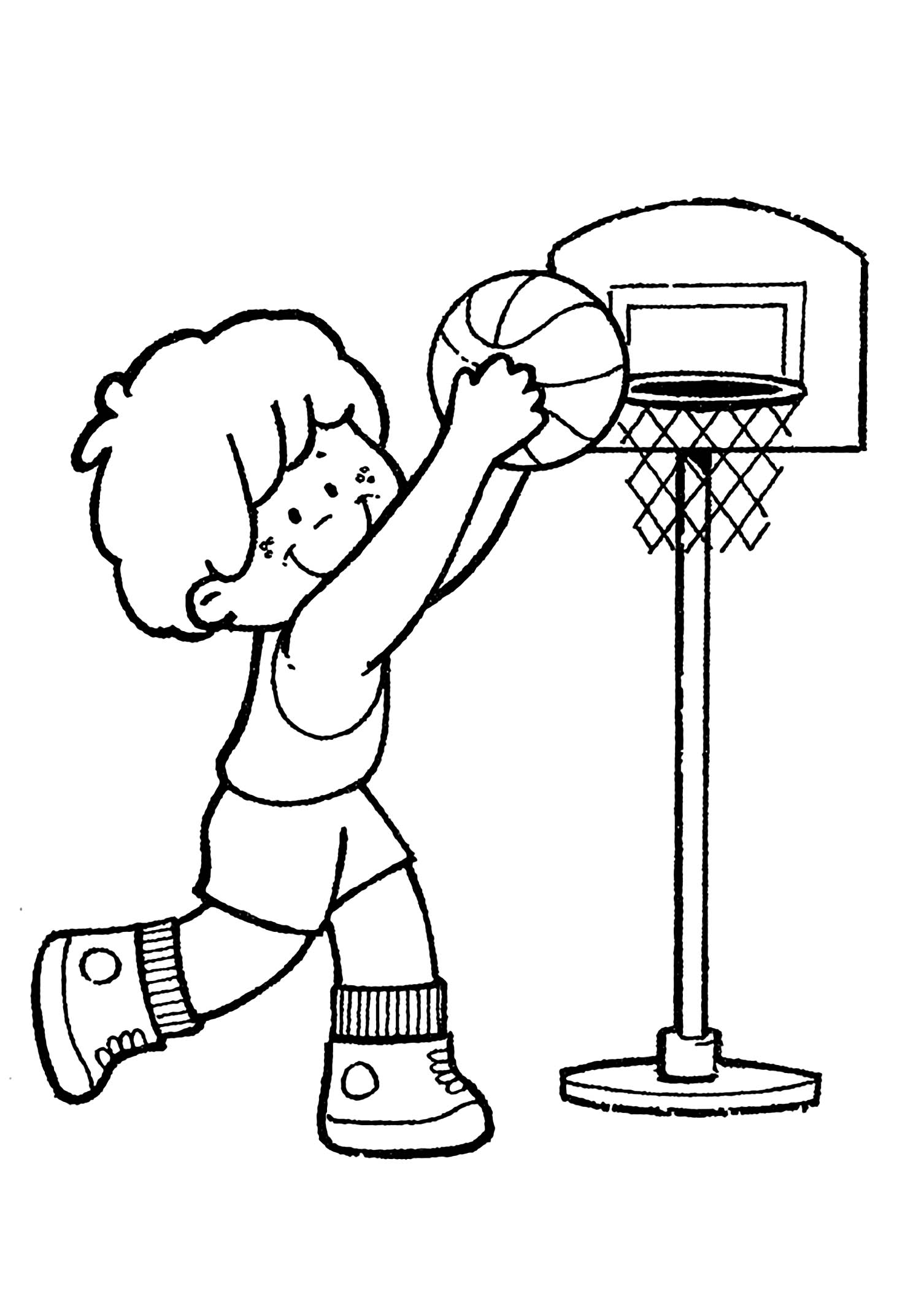 coloring pictures basketball basketball free to color for kids basketball kids pictures basketball coloring