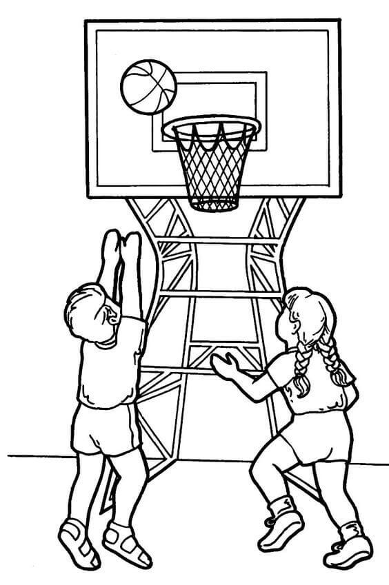 coloring pictures basketball coloring activity pages kids playing basketball basketball coloring pictures