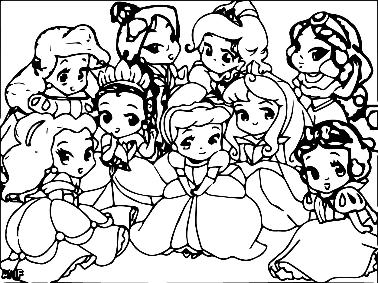 coloring pictures disney princesses baby princess coloring pages to download and print for free coloring princesses disney pictures