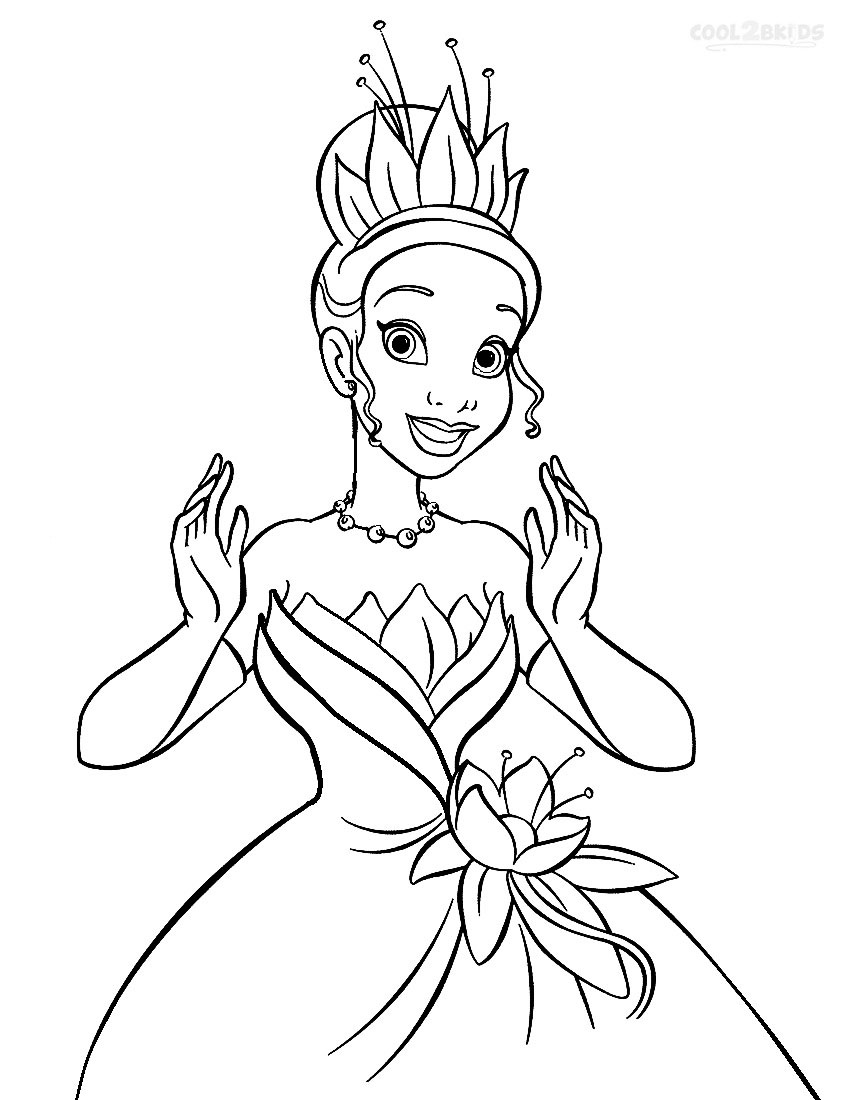 coloring pictures disney princesses printable princess tiana coloring pages for kids cool2bkids pictures coloring princesses disney