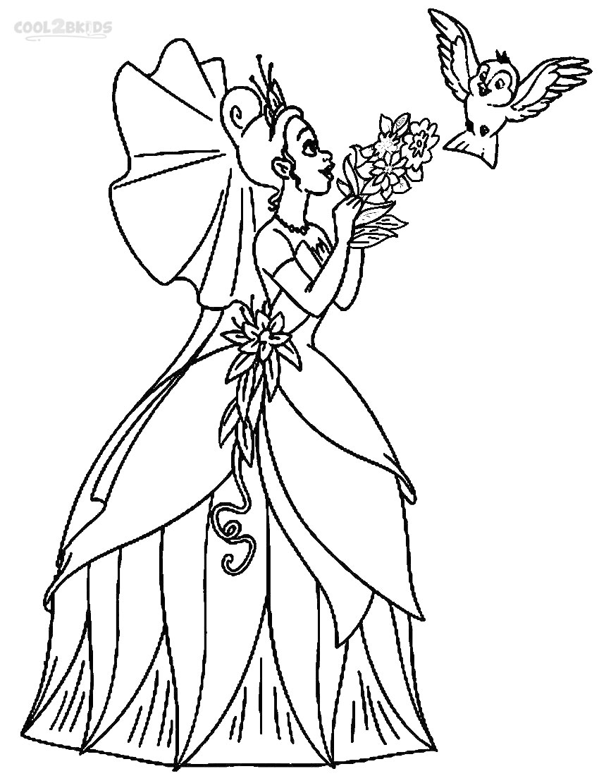 coloring pictures disney princesses printable princess tiana coloring pages for kids cool2bkids princesses coloring pictures disney