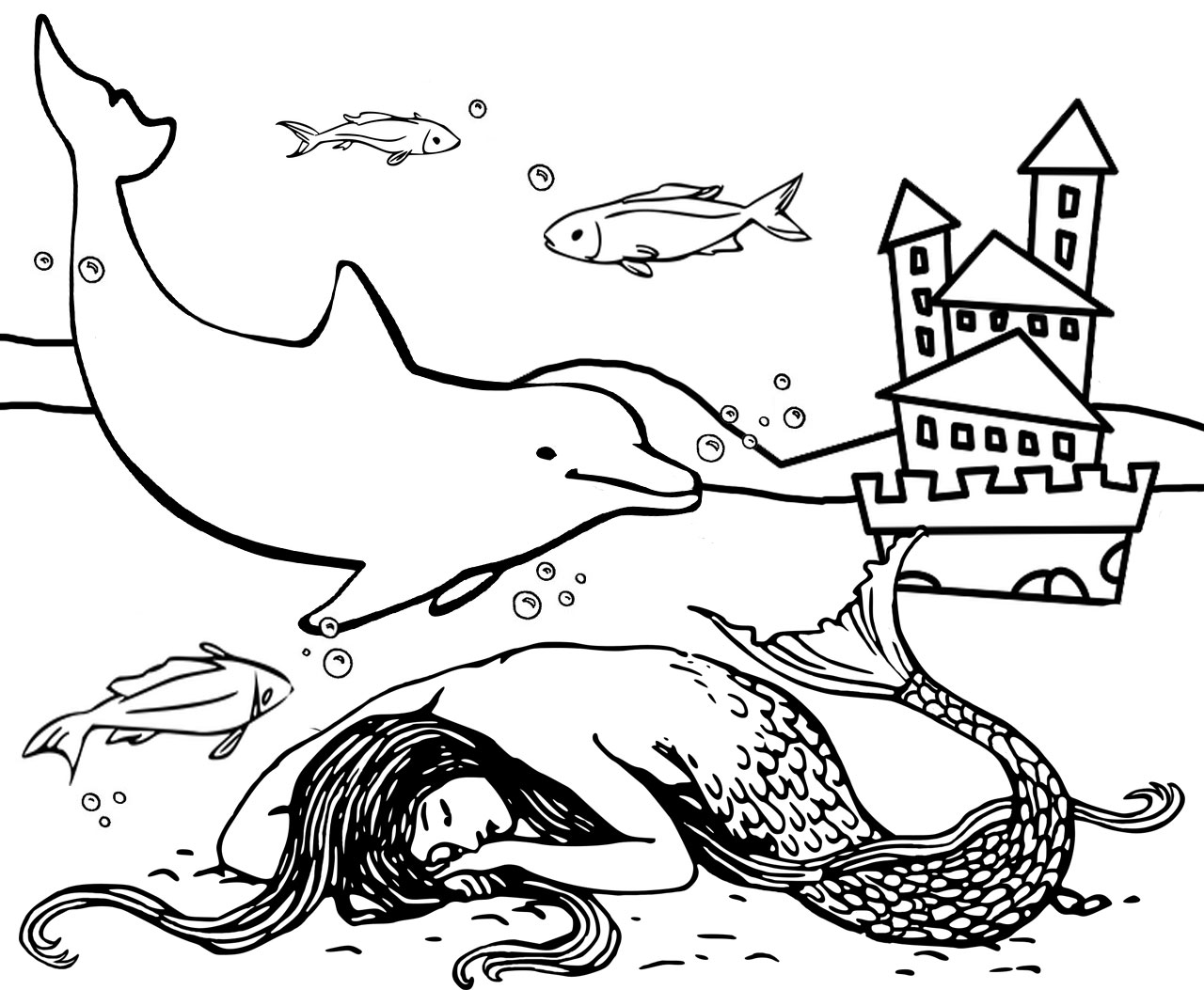 coloring pictures of mermaids coloring page mermaids and necklaces pictures mermaids of coloring