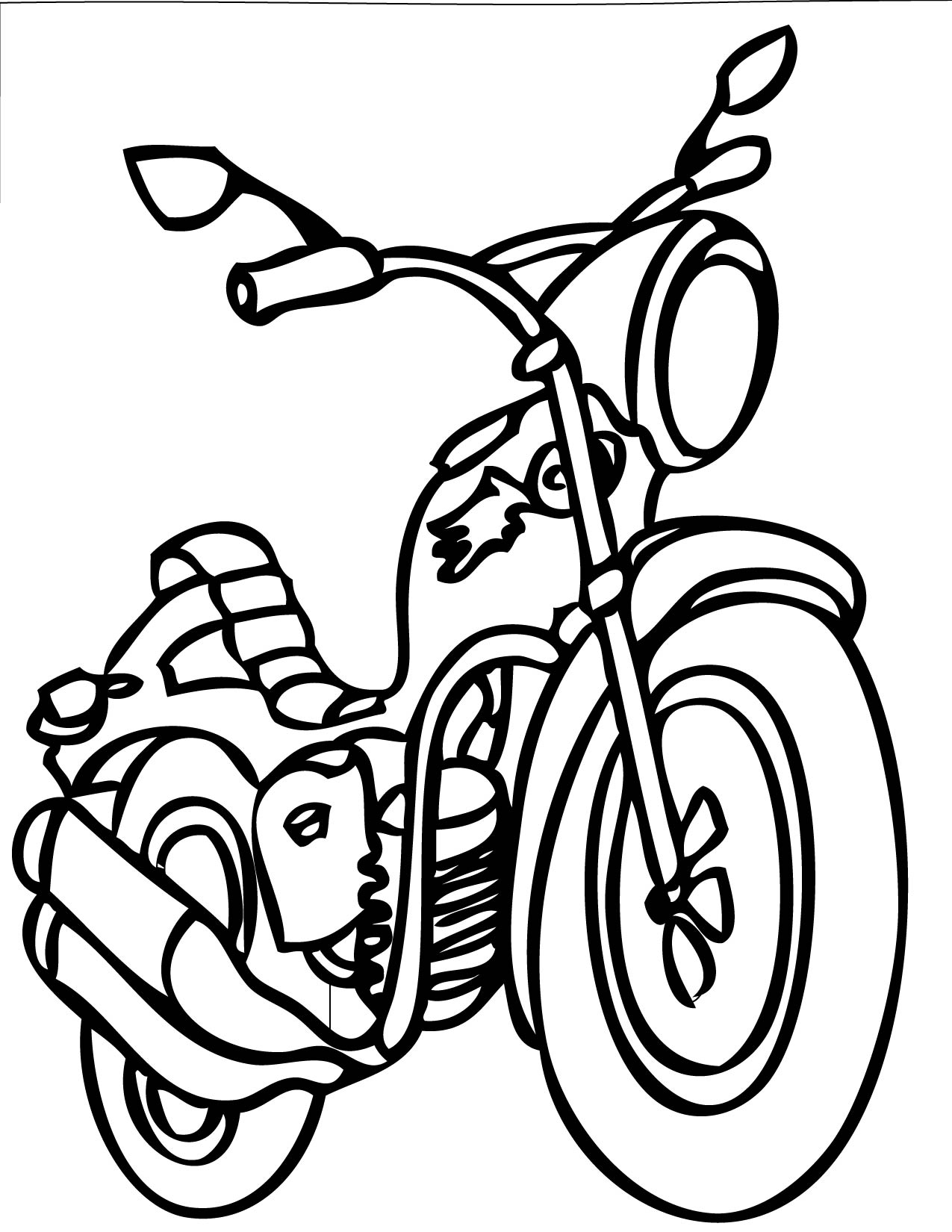 coloring pictures of motorcycles outline motorcycle lift clip art at clkercom vector pictures motorcycles coloring of
