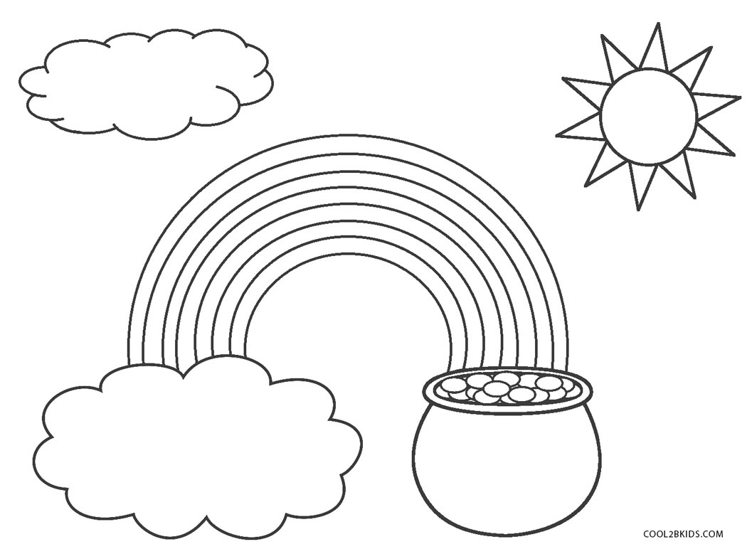 coloring pictures of rainbows clipart rainbow template clipart rainbow template coloring rainbows of pictures