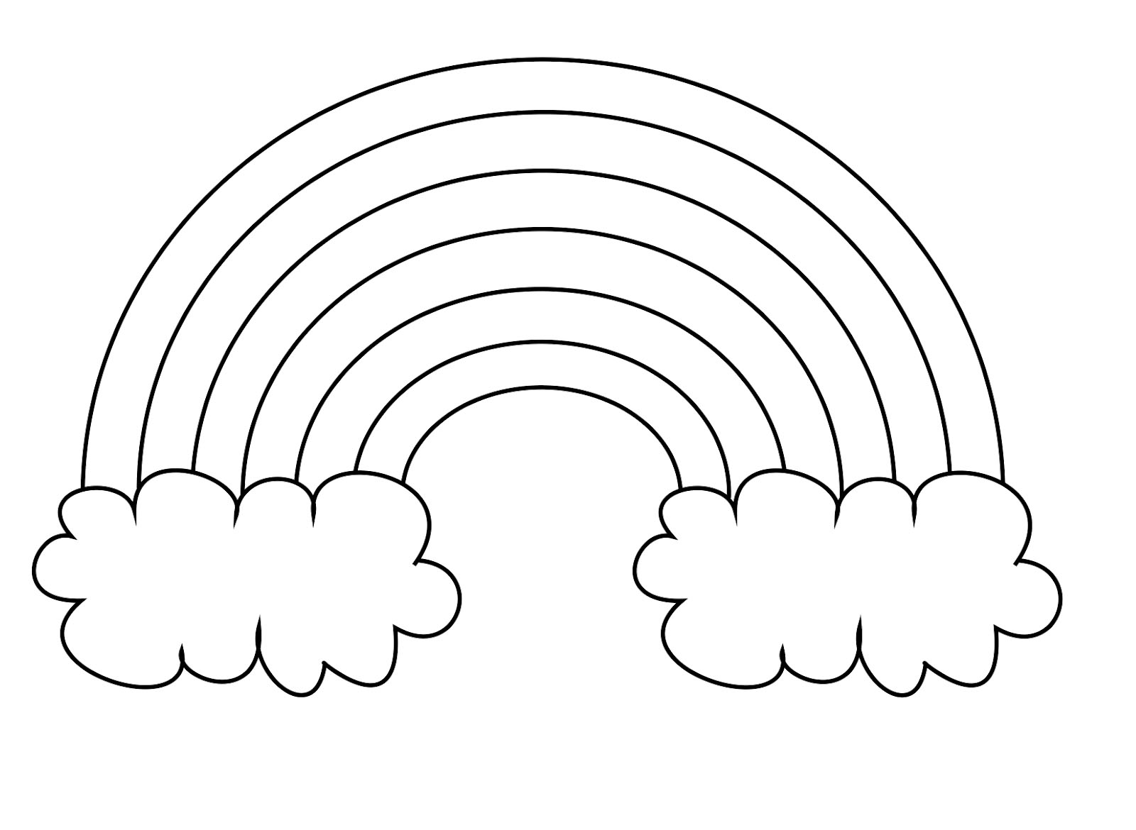 coloring pictures of rainbows free printable rainbow coloring pages for kids coloring of pictures rainbows