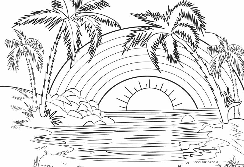 coloring pictures of rainbows free printable rainbow coloring pages for kids coloring rainbows of pictures