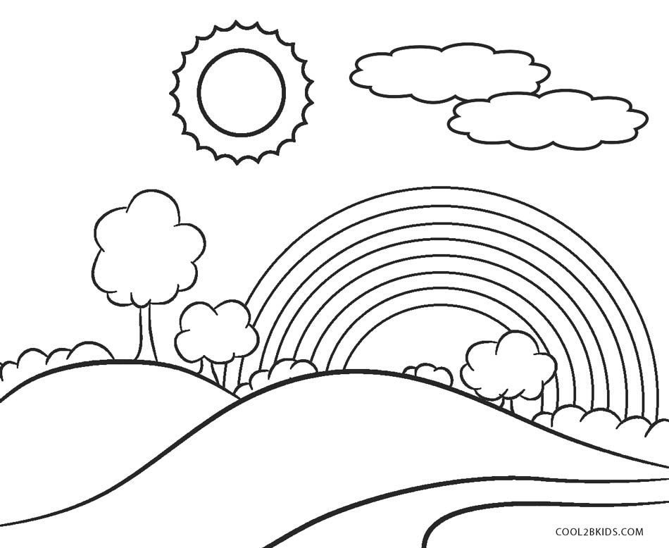 coloring pictures of rainbows free printable rainbow coloring pages for kids of pictures coloring rainbows