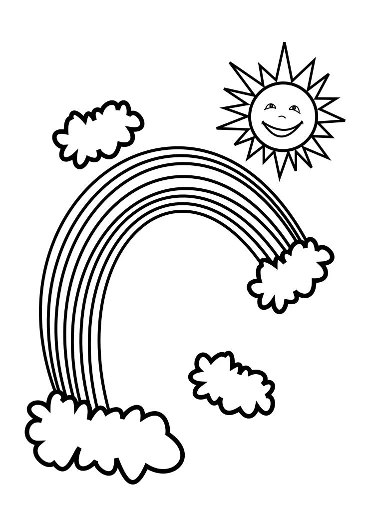 coloring pictures of rainbows free printable rainbow coloring pages for kids pictures coloring of rainbows