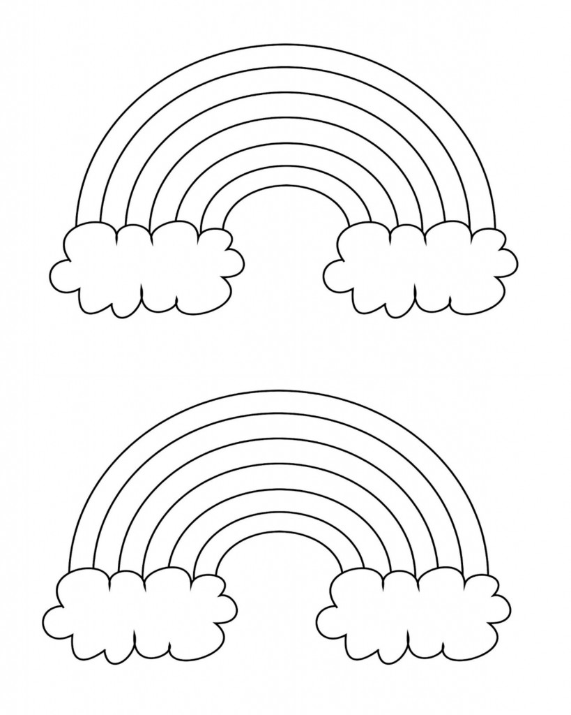 coloring pictures of rainbows free printable rainbow coloring pages for kids pictures of rainbows coloring