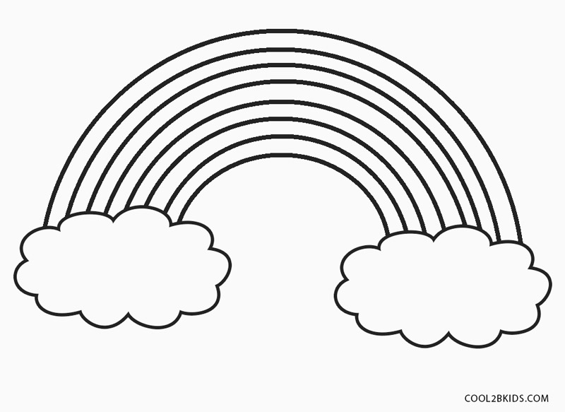 coloring pictures of rainbows free printable rainbow coloring pages for kids rainbows pictures of coloring 1 1