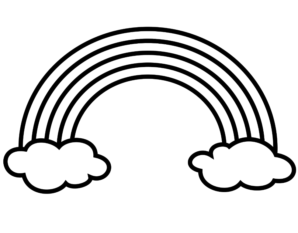 coloring pictures of rainbows rainbow coloring pages for childrens printable for free coloring of pictures rainbows