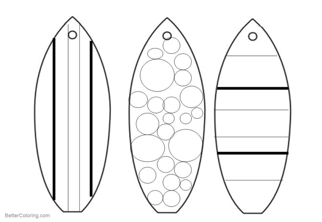 coloring pictures of surfboards surfboard coloring pages bottom view and top view free pictures surfboards of coloring