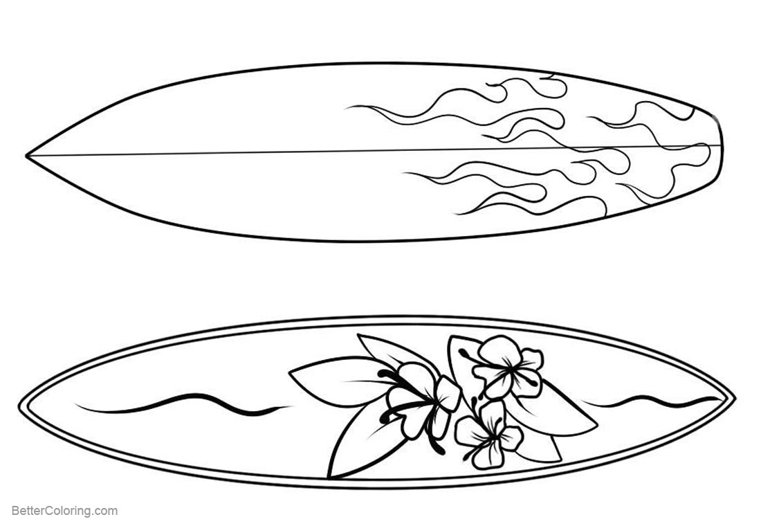 coloring pictures of surfboards surfboard coloring pages three surfboards with pattern pictures surfboards coloring of