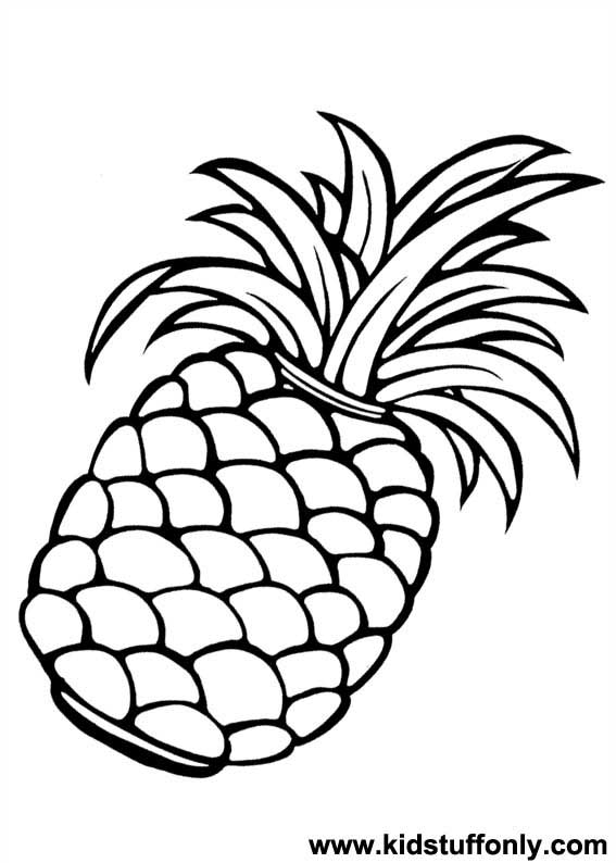 coloring pineapple clipart clipart panda free clipart images coloring pineapple clipart