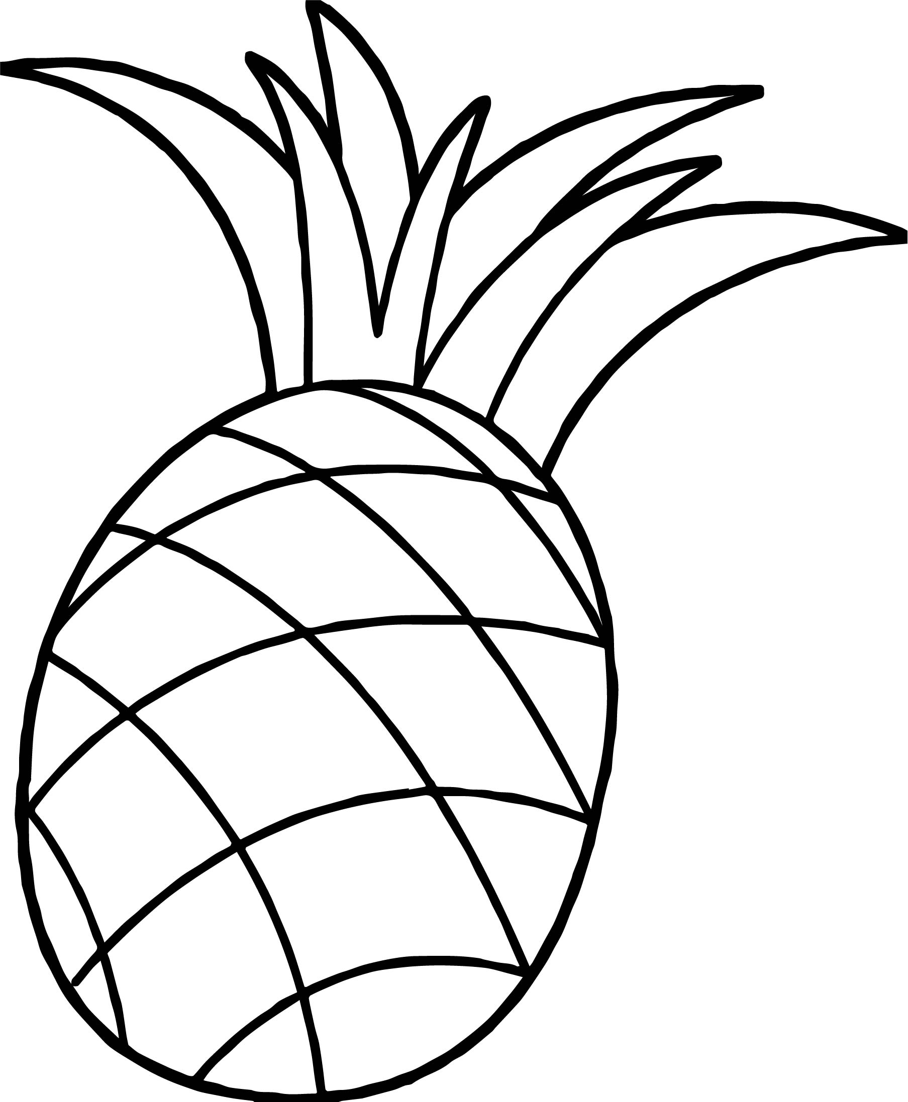 coloring pineapple clipart pine apple drawing at getdrawings free download pineapple coloring clipart
