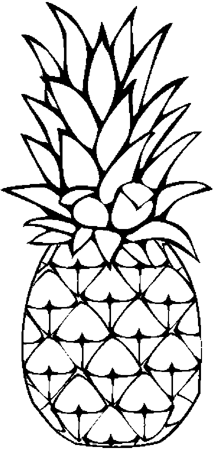 coloring pineapple clipart pineapple clipart black and white coloring page pineapple coloring clipart