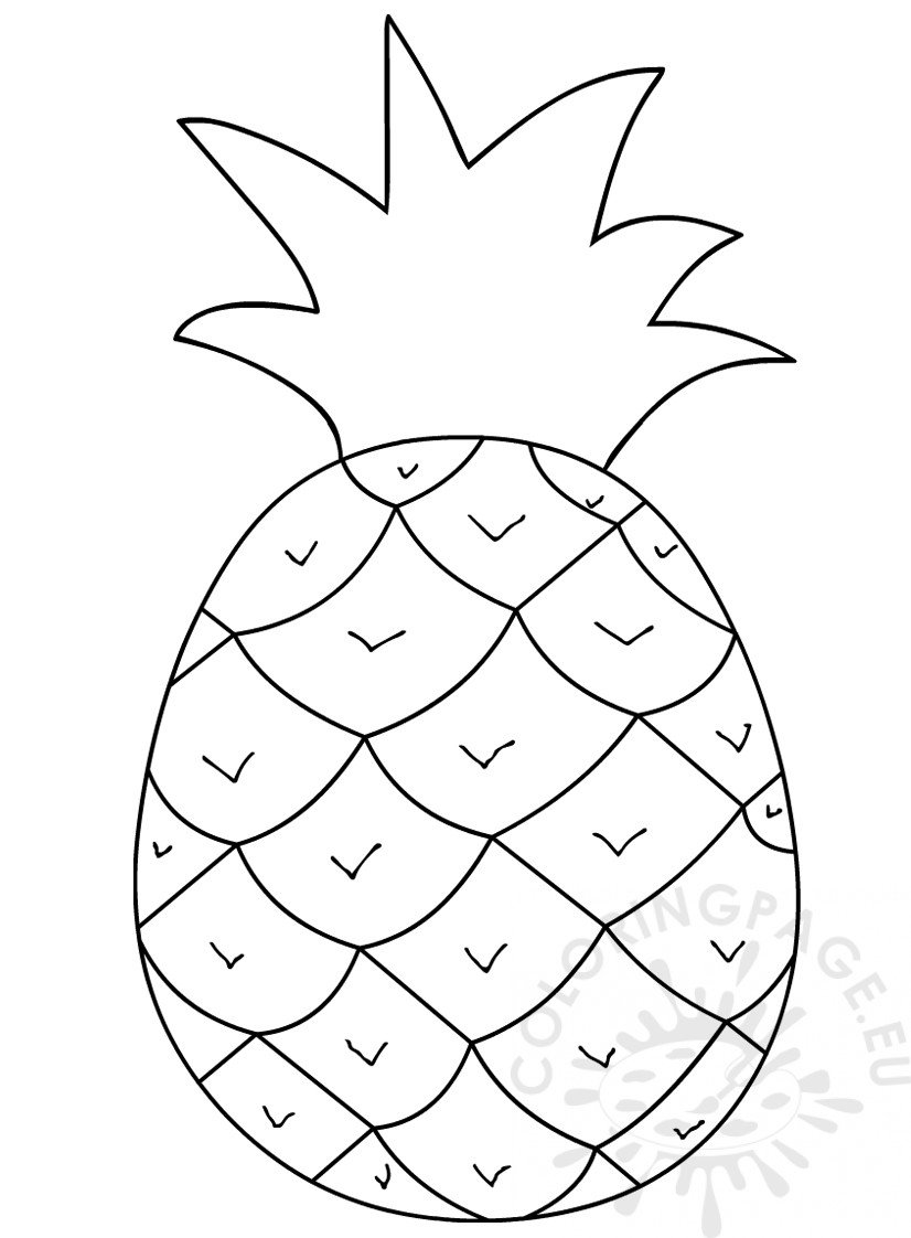 coloring pineapple clipart pineapple clipart black and white free download on coloring pineapple clipart