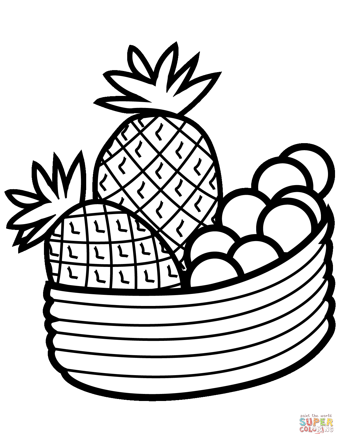 coloring pineapple clipart pineapple coloring page only coloring pages fruit coloring clipart pineapple