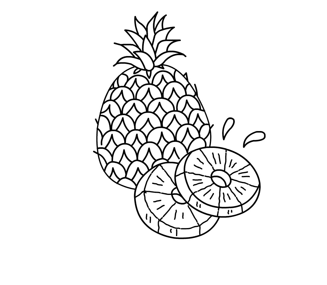 coloring pineapple clipart pineapple coloring pages for kids coloringfile pineapple coloring clipart