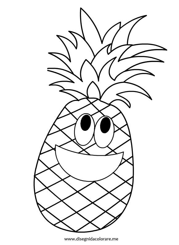 coloring pineapple clipart pineapple coloring pages getcoloringpagescom pineapple clipart coloring