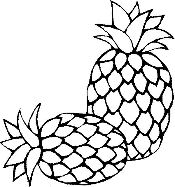 coloring pineapple clipart pineapple drawing clip art at getdrawings free download coloring pineapple clipart