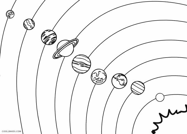 coloring planets of the solar system solar system color page printable solar system coloring solar planets system the of coloring