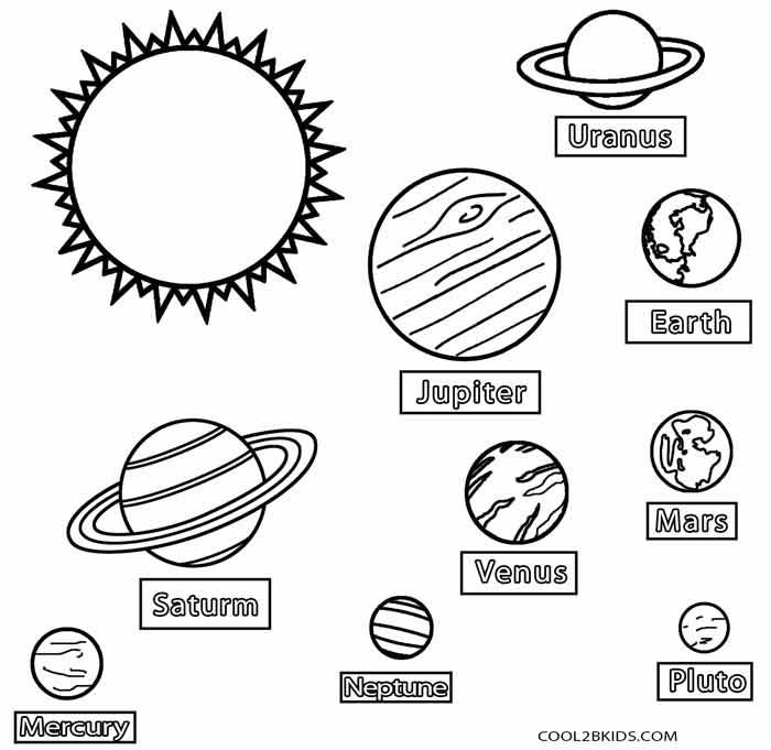 coloring planets of the solar system solar system coloring pages for kids planets coloring system solar of the