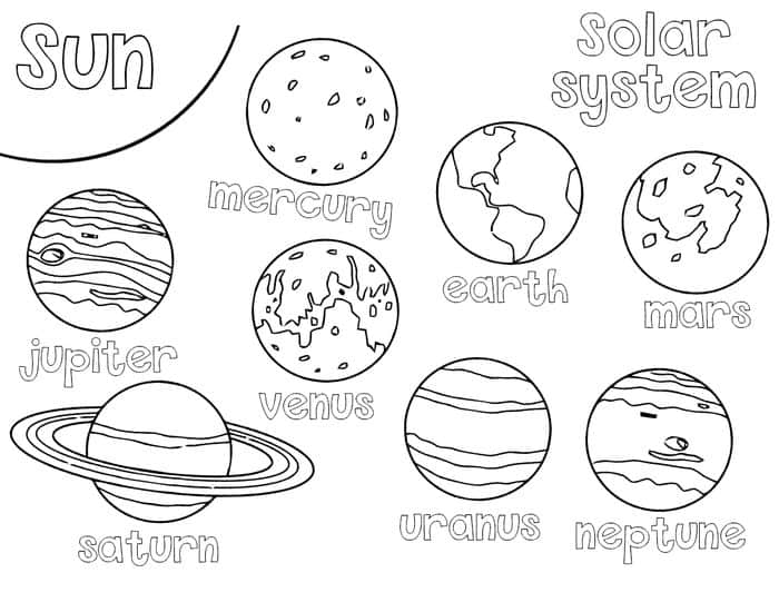 coloring planets of the solar system solarsystemplanetearthfreeschoollearningcolorbook planets the of solar system coloring