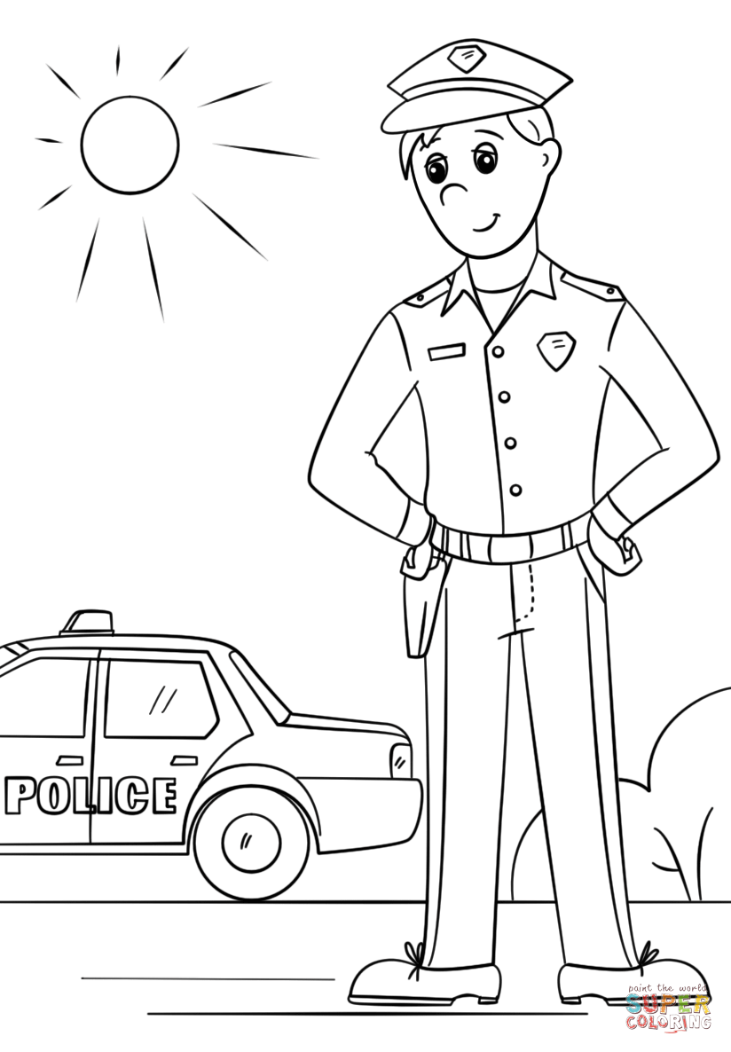 coloring police officer free kids police officer coloring pages coloring home coloring officer police