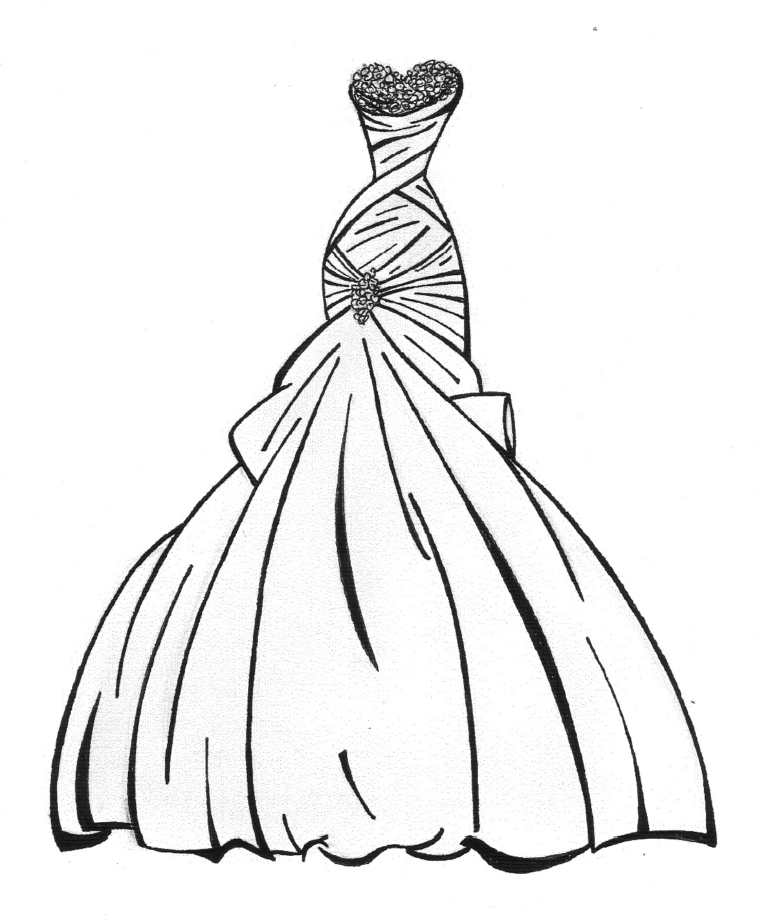 coloring princess dress princess in ball gown dress coloring page free printable princess dress coloring