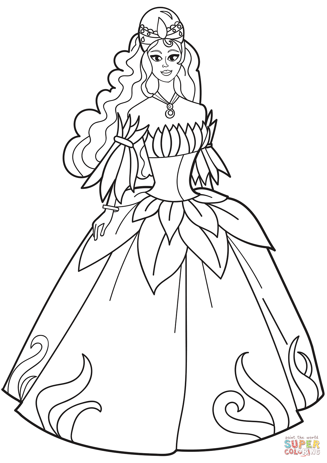 coloring princess dress princess in ball gown off the shoulder dress coloring dress princess coloring