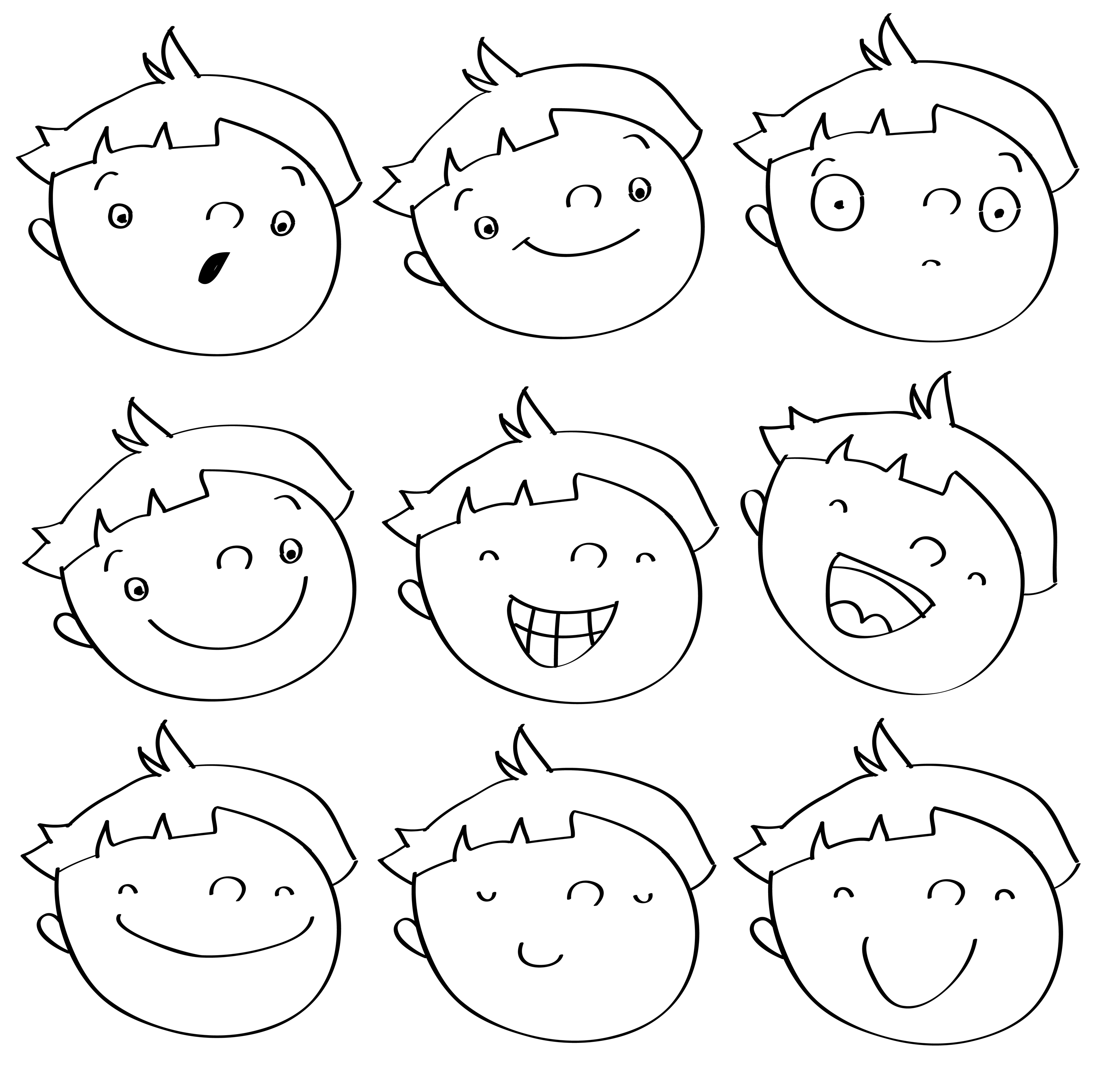 coloring printable emotion faces 16 best images of emotions faces worksheet emotions printable emotion faces coloring